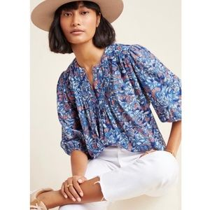 Anthropologie Jude Pin-tucked Button-down